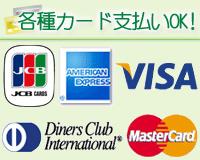 各種カード支払いOK!