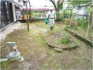 大野城市平野台 賃貸住宅剪定、除草工事