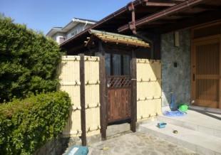 太宰府市 T様邸 庭門の施工