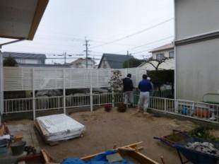 新規フェンス工事