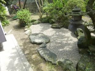 大野城市筒井 造園工事 池埋め