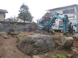 伐採、除石作業