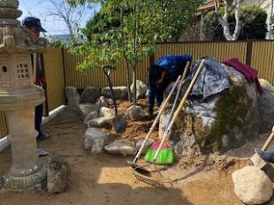写真:庭石組み