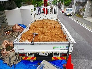 画像:掘り出した土の積載状況