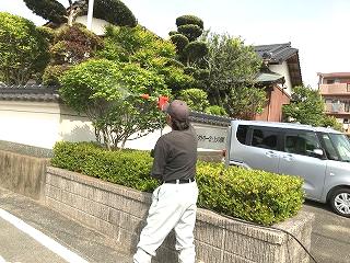 写真:車付近